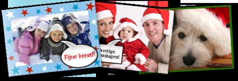 Verschillende voorbeelden van kerstkaarten! Maak nu ook zelf je kerstkaart online!