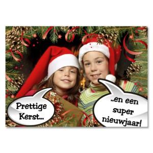 Kerstkaarten met kerstmuts